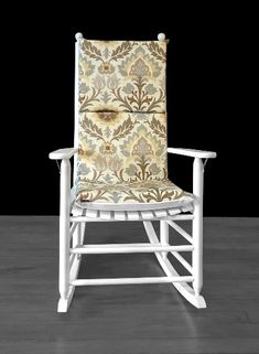 Beige Floral Rocking Chair Cover, Foam Inserts And Matching Pillow Cover | affordable, designer, custom, handmade, trendy, fashionable, locally made, high quality Chair Cushion Covers, Pillow Covers, Ikea Kids Room, Rocking Chair Cushions, Kids Room Organization, Kids Room Design, Slipcovers For Chairs, Room Decor, Beige