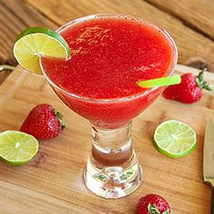 The Best Ever Strawberry Daiquiri -  the ONLY strawberry daiquiri recipe you will ever need!