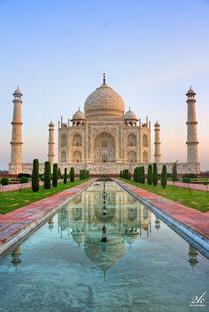 The Taj Mahal India.