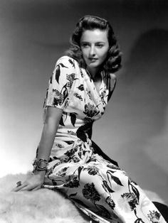 Barbara Stanwyck....superb textile!