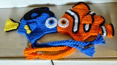 Craft Passions: Clown fish hats .# free # crochet  pattern link he...