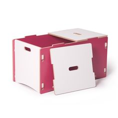 Modern Kids Toy Box - Eco-friendly, Tool-less, Snap it together now!