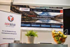 EventButler Messestand an der ONE Schweiz 2014 in der Messe Zürich Flat Screen, Blog, Switzerland, Blood Plasma, Flat Screen Display, Plate Display