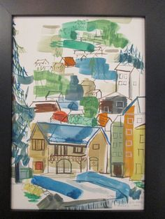 Virginia Gould B 1917 Listed French Cityscape Expressionism Painting Signed | eBay