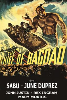 Watch The Thief of Bagdad full HD movie online - #Hd movies, #Tv series online, #fullhd, #fullmovie, #hdvix, #movie720pWhen Prince Ahmad (John Justin) is blinded and cast out of Bagdad by the nefarious Jaffar (Conrad Veidt), he joins forces with the scrappy thief Abu (the incomparable Sabu, in his definitive role) to win back his royal place, as well as the heart of a beautiful princess (June Duprez).