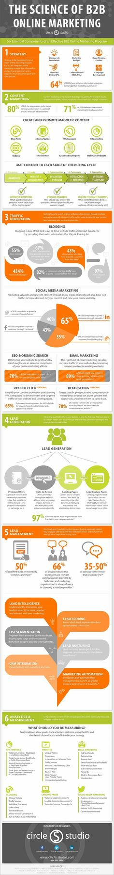 The science of B2B #online #marketing #infographic