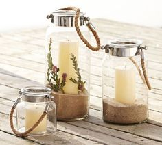 Pottery Barn Lanterns -- great for an outdoor patio or deck! #outdoor #decor