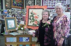 """""""Mom"""" (Lois Gholson) and Patty Winkelman (Quilter's Stash Owner)"""