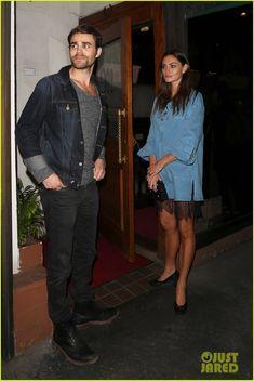 Exes Paul Wesley & Phoebe Tonkin Reunite for Dinner in WeHo