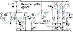 Power amplifier 450W with sanken