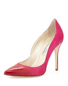 Sabrina Ombre Suede Pump, Shocking Pink by Oscar de la Renta at Neiman Marcus.