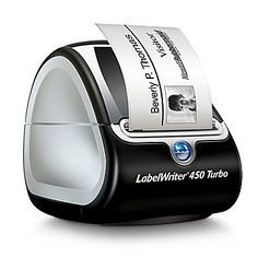 Create all the labels you need to keep your business running with the DYMO LabelWriter 450 Turbo labeler and your PC or Mac. Youll have professional looking labels in no time so you can get all your essential mailings to clients. Create Labels, Barcode Labels, Thermal Labels, Office Gadgets, Mobile Price, Thermal Printer