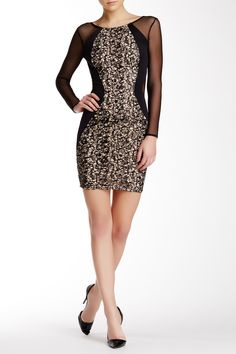 Glitter Lace Black Dress by Lipsy London on @HauteLook