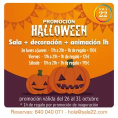 Sala 22 y Halloween se unen para hacer tu fiesta inolvidable y terrorífica!