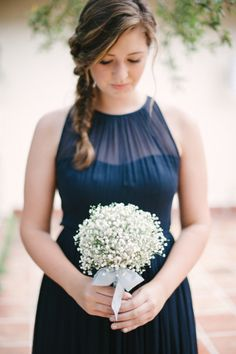 Baby's breath bouquet: http://www.stylemepretty.com/florida-weddings/miami-fl/2015/04/21/elegant-toile-inspired-miami-garden-wedding/ | Photography: Katie Lopez - http://katielopezphotography.com/