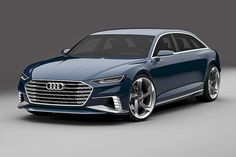 Peter Cerbino saved to Prologue Avant concept Audi will launch a station wagon version of its Prologue concept car at the Geneva auto show. Station Wagon, Bmw, Shooting Break, Carros Audi, Mercedes Cls, Jaguar Xf, Audi A8, Geneva Motor Show, Luxury Cars