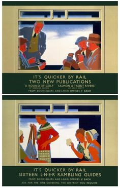 Quicker By Rail 2 - L.N.E.R. Poster, Tom Purvis. He served in The Artists Rifles during WWI.