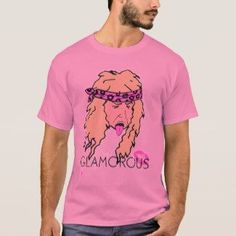 7d370e2f GLAMOROUS – Cool Hippie With Bandana Tee Shirt Pink Mens Tee Shirts, Cool T  Shirts