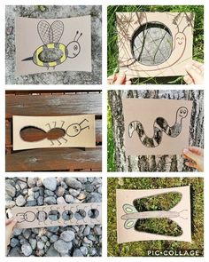 Forest School Activities, Summer Camp Activities, Nature Activities, Toddler Learning Activities, Kindergarten Activities, Summer Crafts For Toddlers, Animal Crafts For Kids, Art For Kids, Grande Section