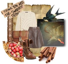 """""""Cinnamon and Cider"""" by girlwiththepumps ❤ liked on Polyvore"""