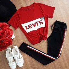 37 Best Casual Outfits for Teens - Adidas leggings outfit - Casual Outfits For Teens, Teenage Outfits, Sporty Outfits, Stylish Outfits, Cool Outfits, Girls Fashion Clothes, Teen Fashion Outfits, Clothes For Women, Teen Clothing