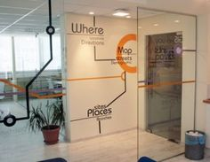 Custom design wall decals by Studio Luka - Points Location Intelligence offices