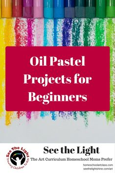3 Easy Oil Pastel Art Projects for beginners. Great for your next homeschool art class.