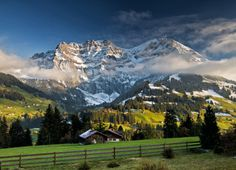 The Alps, Adelboden, Switzerland...I've been here before, and pictures don't do those mountains justice, they are so breathtaking