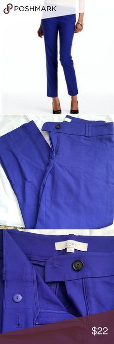 Royal Blue Loft sz 6 Pants Crop Ankle Ann Taylor Loft Pants that are a deep royal blue color. Worn once. Has zip and double button closure. LOFT Pants Ankle & Cropped