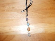 Metallic coated agate oval drop necklace