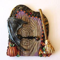Bat Wing Halloween Door Holiday Decor Pixie Portal by Claybykim