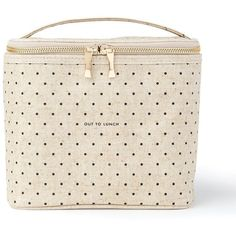 Amazon.com: Kate Spade New York Lunch Tote, Deco Dots (Out To Lunch),... ($26) ❤ liked on Polyvore featuring home, kitchen & dining, food storage containers, lunch carrier, polka dot lunch tote, canvas lunch tote, kate spade and lunch tote