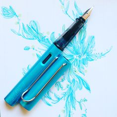 Lamy Al-Star Pacific with Lamy Turquoise (Pacific) ink.