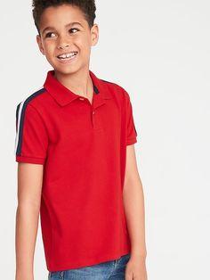 RuggedButts Baby//Toddler Boys Short Sleeve Knit Henley Tee