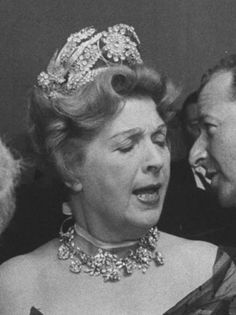 THE ROMANOVS JEWELRY ~ Spectacular floral tiara of Princess Natalia Golitsyn (1907-1989) She was the wife of Grand Duke Vassili, son of GD Xenia, Nikolay II's sister ~ NY ca 1959. Tiara was inherited by her only daughter Marina Romanov (b. 1940) who lives in California, the USA and got three daughters and one son from her marriage on William Beadleston ~ by dolores