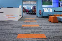 Interface carpet tile installed at University of Leeds