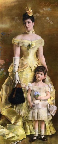 La Baronne de Bonhome by Alfred Emile Léopold Stevens, 1886