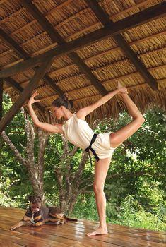 ♡ yoga o yoga, balancing soul and mind. Gisele Bündchen, via vogue.com