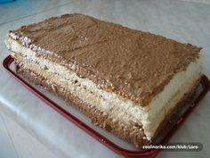 Torta koja je postala apsolutni hit na internetu Torte Recepti, Kolaci I Torte, Bosnian Recipes, Croatian Recipes, Jednostavne Torte, Posne Torte, Sand Cake, Cookie Recipes, Dessert Recipes