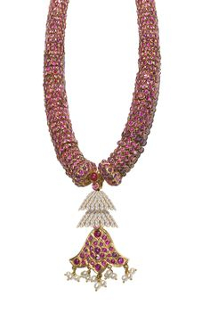 rubies, diamonds a traditional long necklace