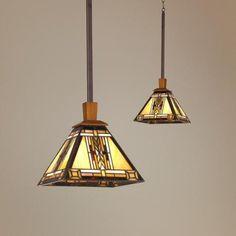 Walnut Mission Collection Pendant Chandelier | LampsPlus.com