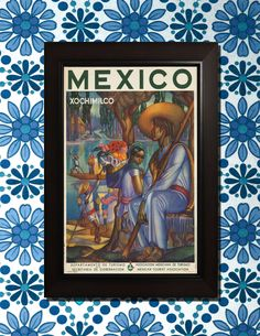 Mexico Travel Poster - 3 sizes available, one low price. by VintageUnitedStates on Etsy https://www.etsy.com/listing/157603998/mexico-travel-poster-3-sizes-available