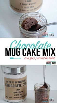 You need to make this Chocolate Mug Cake Mix Recipe to have on hand in case of emergency plus get the Free Printable Labels too! Such a great homemade gift idea!