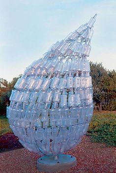 "Amazing sculpture! Earth tear - or - ""How many bottles of Vodka will it take to see the Earth cry?"""