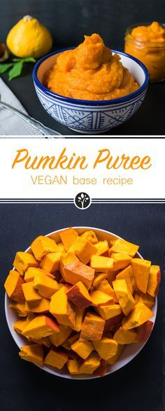 #pumpkinpuree is the base #recipe for many vegan dishes like pumpkin spice #latte or pumkin spice #oats