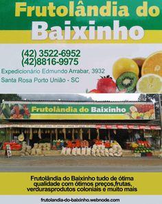 Frutolândia do Baixinho tudo  de ótima qualidade com ótimos preços,frutas,verduras,produtos coloniais e muito mais   (42) 3522-6952 (42)88169975