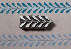 Hoja de frontera 0002 bloque de impresión madera