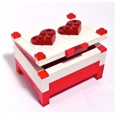 Parents usually have mixed feelings about Lego building blocks. On one hand, they are great toys that help encourage our kids imaginations and keep them busy for hours. Custom Wedding Rings, Wedding Ring Box, Lego Jewelry, Jewelry Box, Lego Wedding, Used Legos, Lego Boxes, Brick Art, Lego System