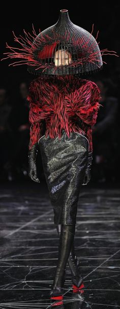 Alexander McQueen Can never be matched.....the type of thing you would see in the most strange dream; nightmare even; but made beautiful still in a way only he could do.