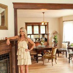 Love the molding around the door frame! -rehab addict dollar house - Google Search
